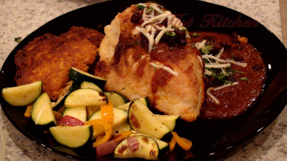 Hot Kitchen Chicken in Rojo Sauce, Yam Fritters Southwest Recipe Demonstration